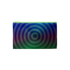 Blue Green Abstract Background Cosmetic Bag (xs)