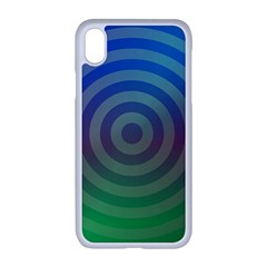 Blue Green Abstract Background Iphone Xr Seamless Case (white)