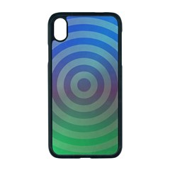 Blue Green Abstract Background Iphone Xr Seamless Case (black)