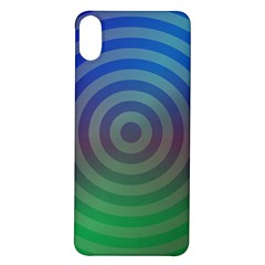 Blue Green Abstract Background Iphone X/xs Soft Bumper Uv Case