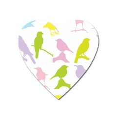 Birds Colourful Background Heart Magnet by HermanTelo