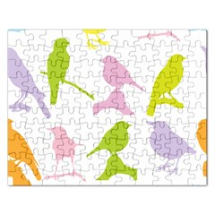 Birds Colourful Background Rectangular Jigsaw Puzzl by HermanTelo