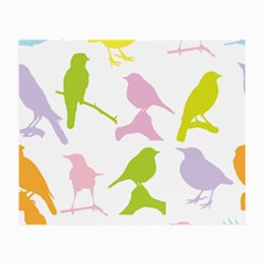 Birds Colourful Background Small Glasses Cloth by HermanTelo