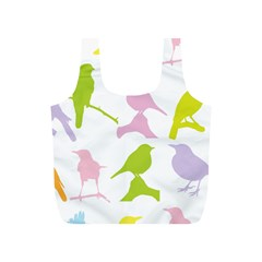 Birds Colourful Background Full Print Recycle Bag (s)