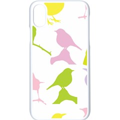 Birds Colourful Background Iphone X Seamless Case (white)