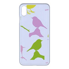 Birds Colourful Background Iphone Xs Max Seamless Case (white)