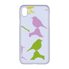 Birds Colourful Background Iphone Xr Seamless Case (white)