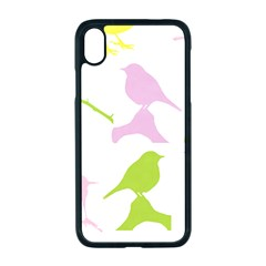 Birds Colourful Background Iphone Xr Seamless Case (black)