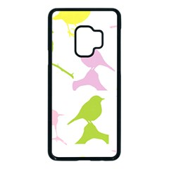 Birds Colourful Background Samsung Galaxy S9 Seamless Case(black)