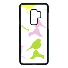 Birds Colourful Background Samsung Galaxy S9 Plus Seamless Case(black) by HermanTelo