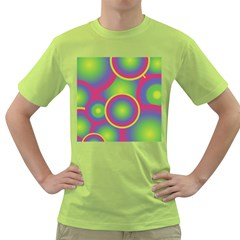 Background Colourful Circles Green T Shirt by HermanTelo