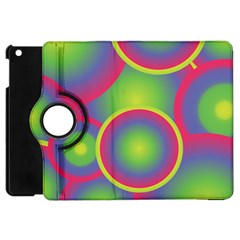 Background Colourful Circles Apple Ipad Mini Flip 360 Case by HermanTelo
