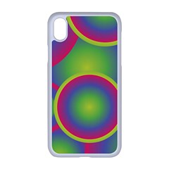 Background Colourful Circles Iphone Xr Seamless Case (white)