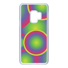 Background Colourful Circles Samsung Galaxy S9 Seamless Case(white)