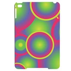 Background Colourful Circles Apple Ipad Mini 4 Black Uv Print Case by HermanTelo