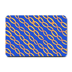 Blue Abstract Links Background Small Doormat  by HermanTelo