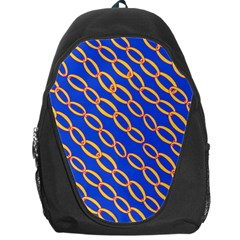 Blue Abstract Links Background Backpack Bag