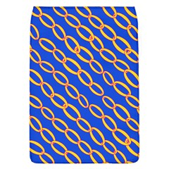 Blue Abstract Links Background Removable Flap Cover (l)