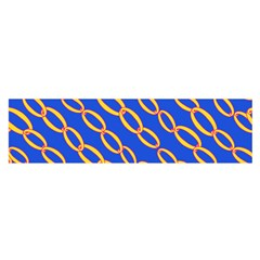 Blue Abstract Links Background Satin Scarf (oblong)