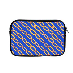 Blue Abstract Links Background Apple Macbook Pro 13  Zipper Case