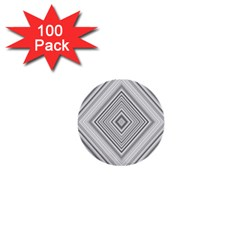 Black White Grey Pinstripes Angles 1  Mini Buttons (100 Pack)  by HermanTelo