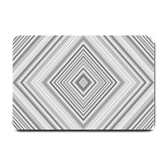Black White Grey Pinstripes Angles Small Doormat  by HermanTelo