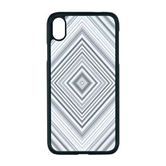 Black White Grey Pinstripes Angles Iphone Xr Seamless Case (black)