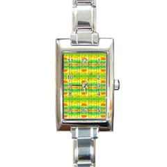 Birds Beach Sun Abstract Pattern Rectangle Italian Charm Watch by HermanTelo