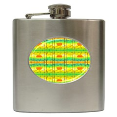 Birds Beach Sun Abstract Pattern Hip Flask (6 Oz) by HermanTelo