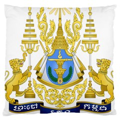 Coat Of Arms Of Cambodia Large Cushion Case (one Side) by abbeyz71