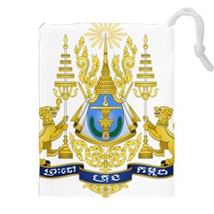 Coat Of Arms Of Cambodia Drawstring Pouch (xxl) by abbeyz71