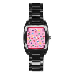 Cupcakes Food Dessert Celebration Stainless Steel Barrel Watch by HermanTelo