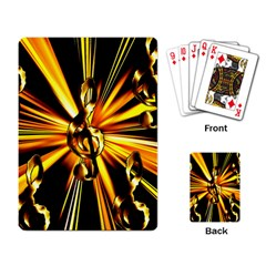 Clef Golden Music Playing Cards Single Design