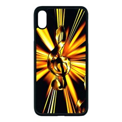 Clef Golden Music Iphone Xs Max Seamless Case (black)