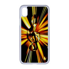 Clef Golden Music Iphone Xr Seamless Case (white)