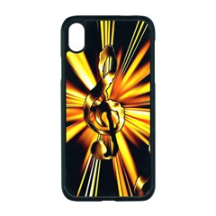 Clef Golden Music Iphone Xr Seamless Case (black)