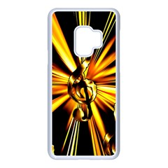 Clef Golden Music Samsung Galaxy S9 Seamless Case(white) by HermanTelo