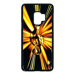 Clef Golden Music Samsung Galaxy S9 Seamless Case(black)