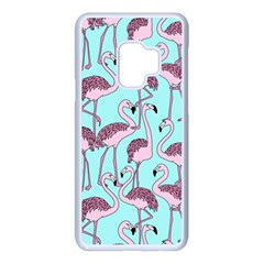Flemish Rosa Birds Nature Fauna Flamenco Samsung Galaxy S9 Seamless Case(white)
