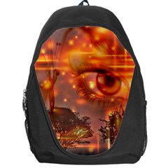 Eye Butterfly Evening Sky Backpack Bag