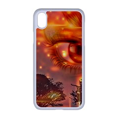 Eye Butterfly Evening Sky Iphone Xr Seamless Case (white)
