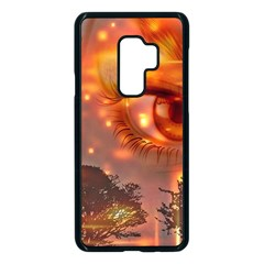 Eye Butterfly Evening Sky Samsung Galaxy S9 Plus Seamless Case(black) by HermanTelo