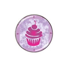 Cupcake Food Purple Dessert Baked Hat Clip Ball Marker by HermanTelo