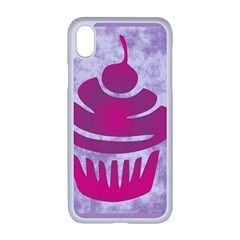 Cupcake Food Purple Dessert Baked Iphone Xr Seamless Case (white)