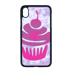 Cupcake Food Purple Dessert Baked Iphone Xr Seamless Case (black)
