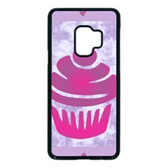 Cupcake Food Purple Dessert Baked Samsung Galaxy S9 Seamless Case(black)
