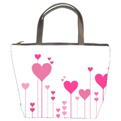 Heart Rosa Love Valentine Pink Bucket Bag by HermanTelo