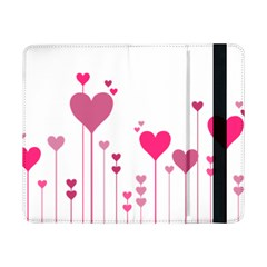 Heart Rosa Love Valentine Pink Samsung Galaxy Tab Pro 8 4  Flip Case by HermanTelo