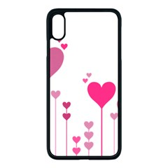 Heart Rosa Love Valentine Pink Iphone Xs Max Seamless Case (black)