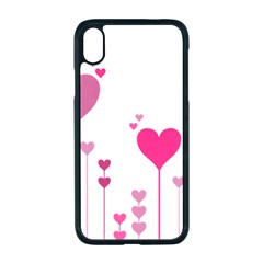 Heart Rosa Love Valentine Pink Iphone Xr Seamless Case (black)